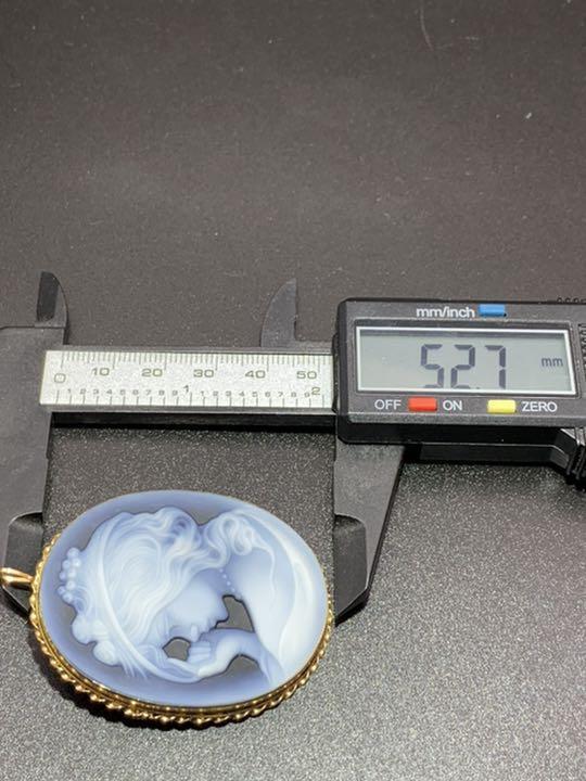 K14金 585刻印 カメオ ネックレストップ ブローチ 重さ約 19.2グラム
