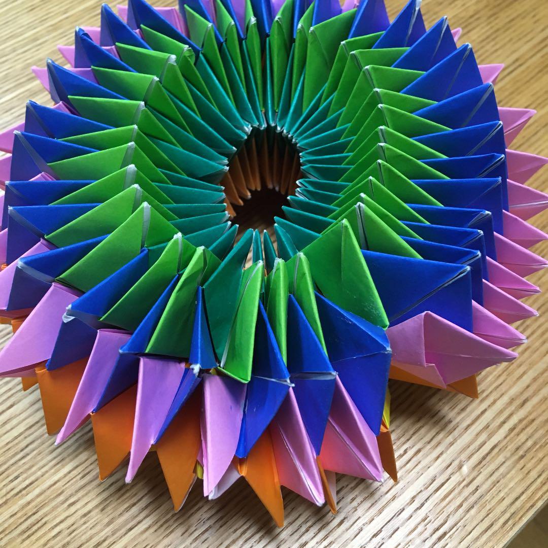 簡単 方 万華鏡 折り紙 折り