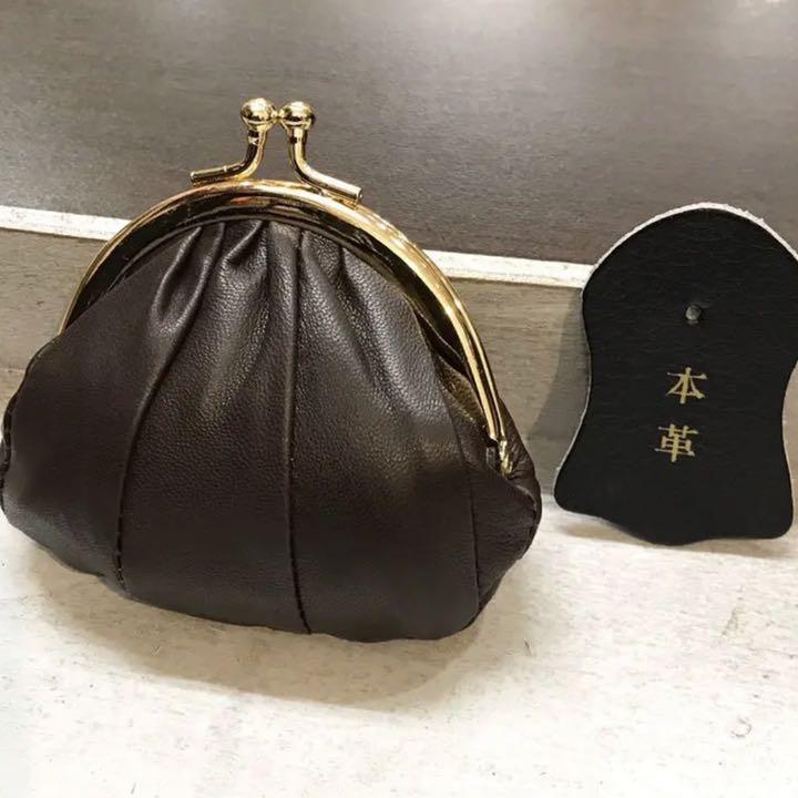 dcfb91336fc2 メルカリ - 新品 本革 がま口 財布 ポーチ 【コインケース/小銭入れ ...