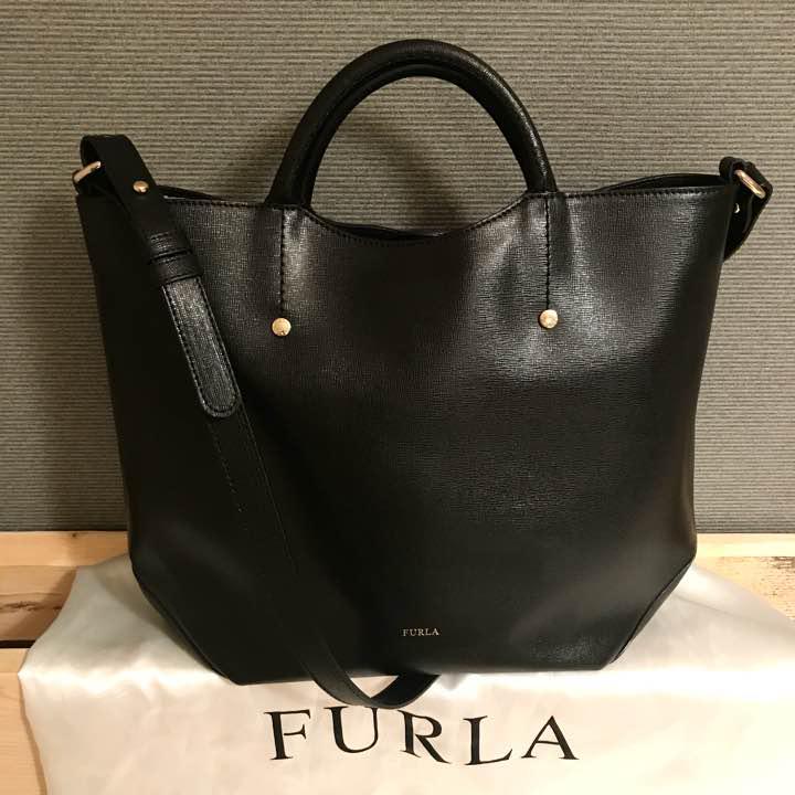 cc86062c2a2e メルカリ - 超美品 FURLA Alissa 2way フルラ アリッサ 【トートバッグ ...