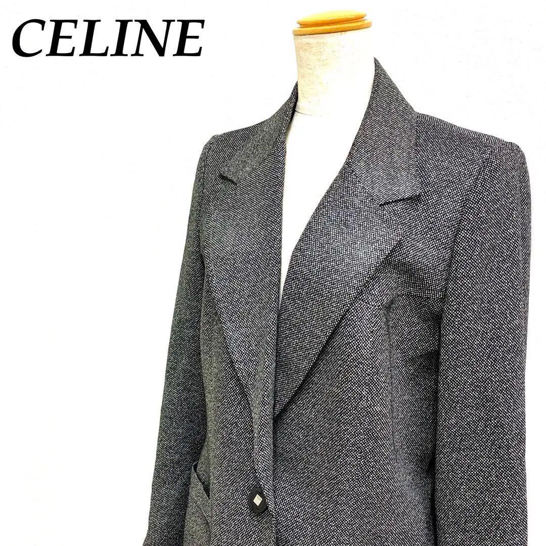 4a867ec72234 メルカリ - 高級 美品 セリーヌ CELINE コート ジャケット ツイード ...