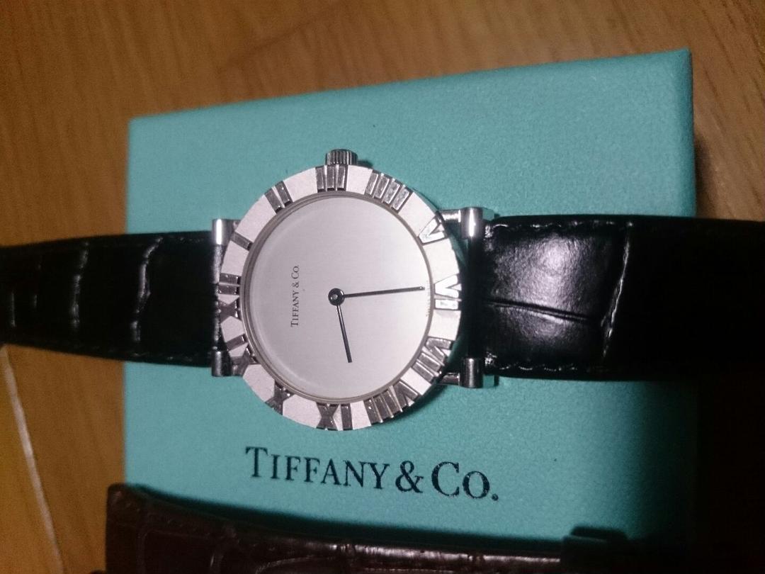 newest 0a984 efa4d ティファニー TIFFANY 腕時計 メンズ アトラス(¥23,000) - メルカリ スマホでかんたん フリマアプリ