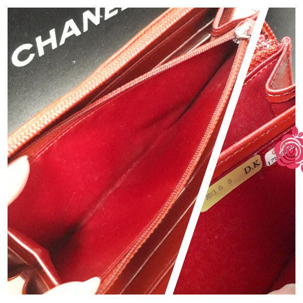 cd349c9426f3 メルカリ - CHANEL カメリア 長財布 赤 レッド 正規品 Gカードあり ...
