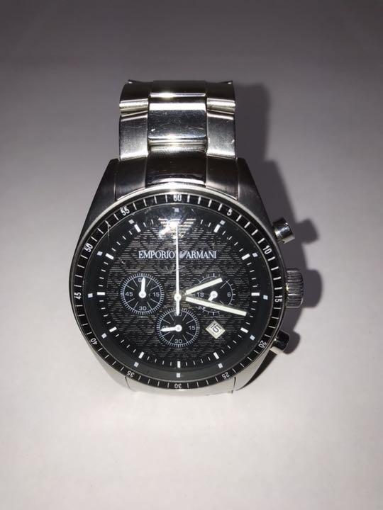 check out 9e93c 1347e EMPORIO ARMANI エンポリオアルマーニメンズ腕時計 美品!(¥6,000) - メルカリ スマホでかんたん フリマアプリ