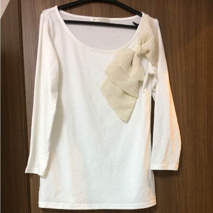 bc079470aba39 メルカリ - 美品 ビーラディエンス 七分袖 リボンカットソー 【Tシャツ ...