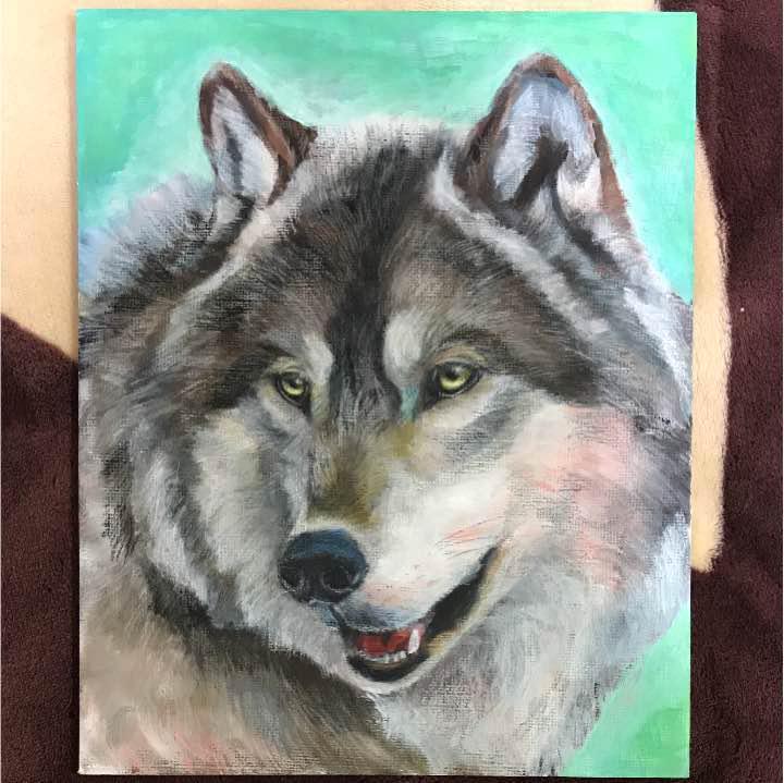 メルカリ 狼 イラスト アート写真 3500 中古や未使用のフリマ