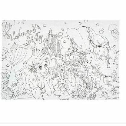 ディズニー プリンセス 大人の塗り絵 ベル ラプンツェル アリエル ポストカード500 メルカリ スマホでかんたん フリマアプリ