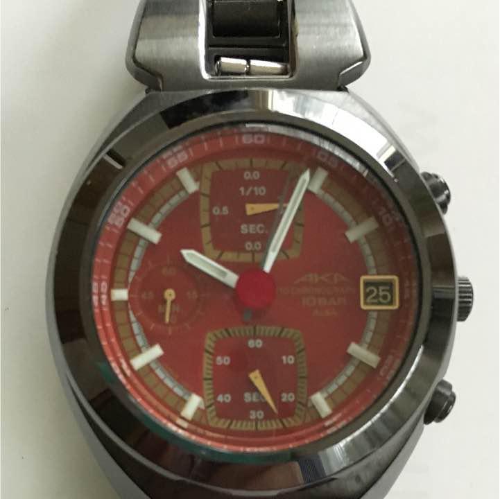 new arrivals aa825 f5010 AKA 腕時計 赤 クロノグラフ(¥4,500) - メルカリ スマホでかんたん フリマアプリ