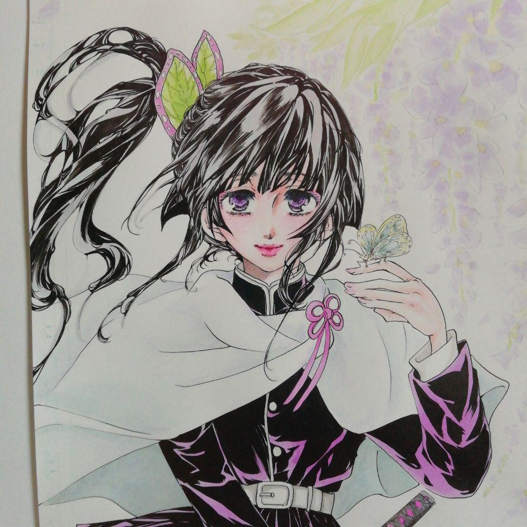 なっつん様専用 鬼滅の刃 手描きイラスト カナヲちゃん(¥1,800) , メルカリ スマホでかんたん フリマアプリ