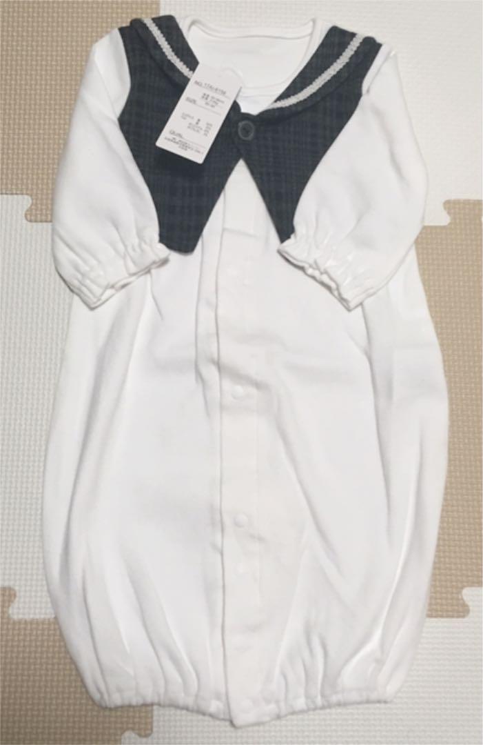 a17b7f98478e7 メルカリ - 新品未使用 西松屋 新生児用長袖コンビドレス(白 ...