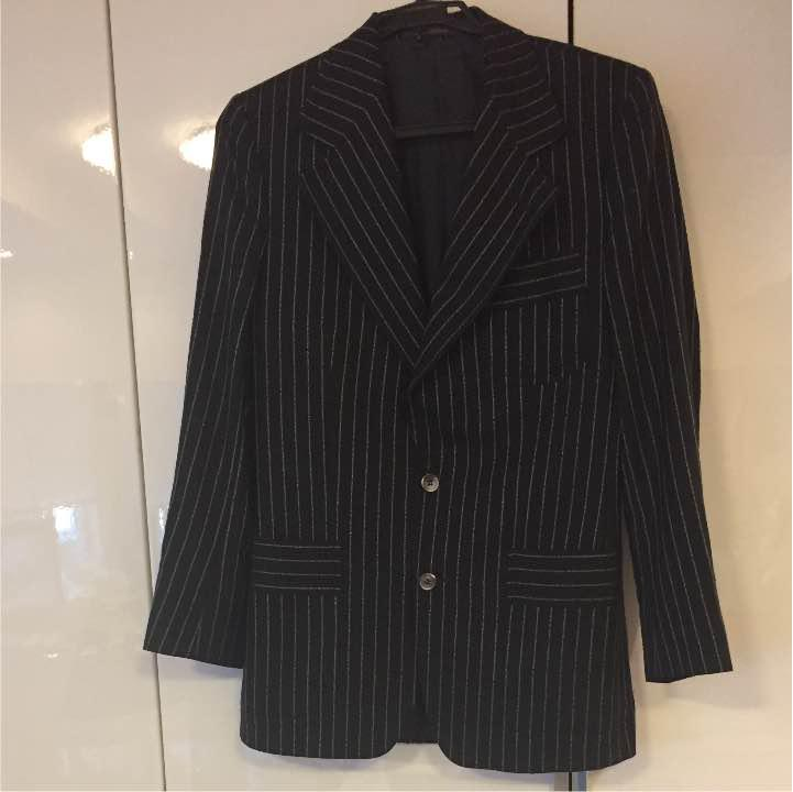 size 40 ac20f 308e5 YVES SAINT LAURENT チョークストライプスーツ(¥6,000) - メルカリ スマホでかんたん フリマアプリ
