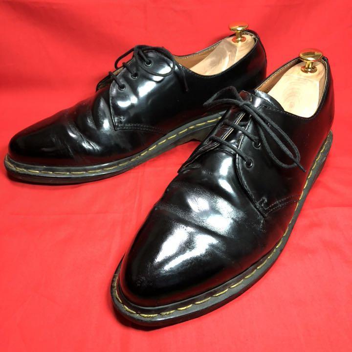 Dr.Martens 3ホール 28.5cm ドレス 革靴 黒 靴紐新品(¥4,480) , メルカリ スマホでかんたん フリマアプリ