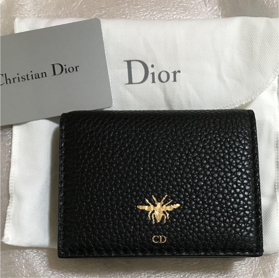 timeless design 6d51d bb4c0 最終価格Dior bee 二つ折りコンパクト財布 新品送料込み(¥34,000) - メルカリ スマホでかんたん フリマアプリ