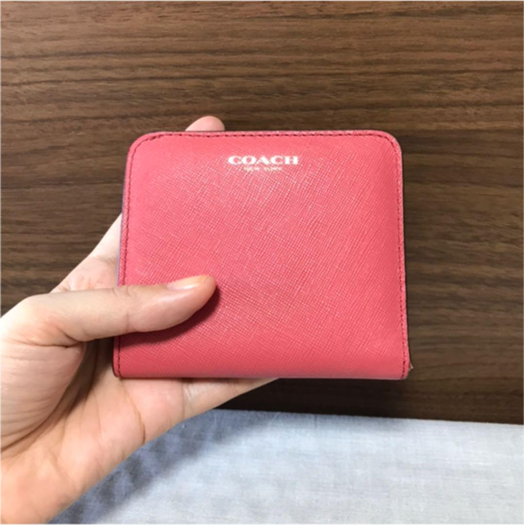 uk availability c89d9 3ccb9 コーチ ミニウォレット 折財布 財布 ミニ財布 ピンク コーラル 小型財布(¥2,900) - メルカリ スマホでかんたん フリマアプリ