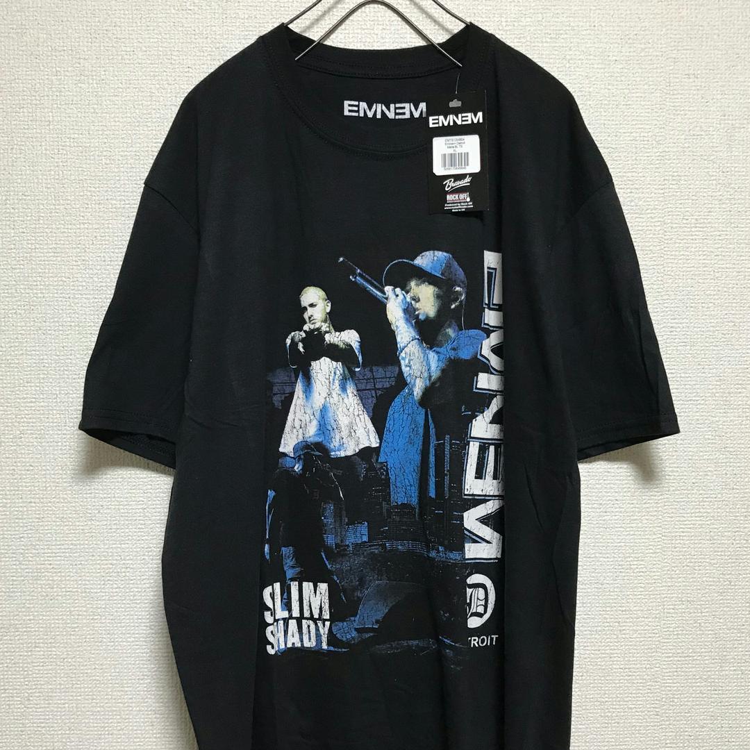 Eminem Em Logo T-Shirt Antique Denim