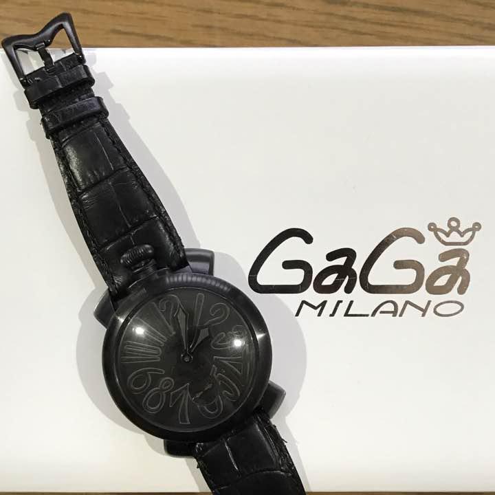 new arrival 2896c ad942 ガガミラノ マヌアーレ 48mm 黒!(¥60,000) - メルカリ スマホでかんたん フリマアプリ