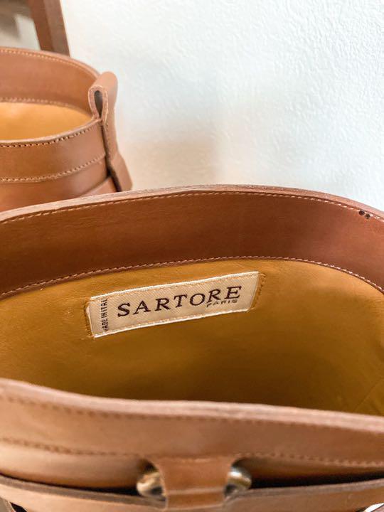 サルトル ロングブーツ 茶色