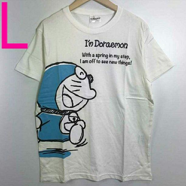 5a5d3e53e55a1 メルカリ - 新品 Lサイズ Tシャツ ドラえもん サンリオ グッズ ホワイト ...