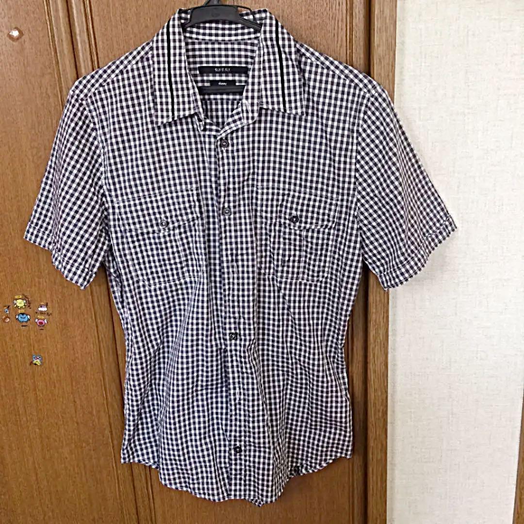 various colors 5a205 25d8b GUCCI 半袖シャツ チェックシャツ 美品 38(¥6,000) - メルカリ スマホでかんたん フリマアプリ