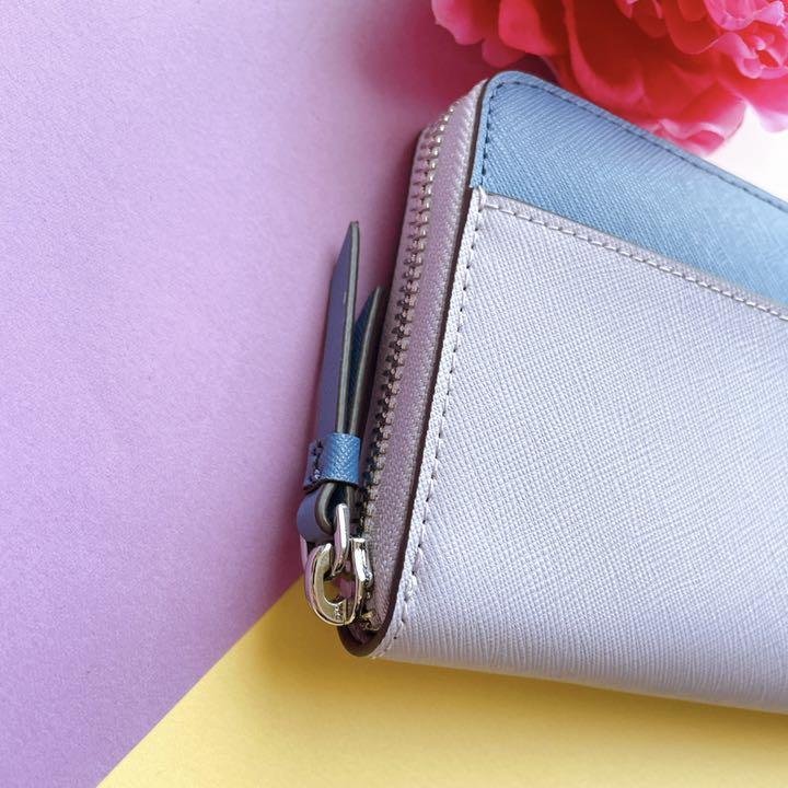 新品♡kate spade  ケイトスペード 紫 青系 バイカラー 長 財布
