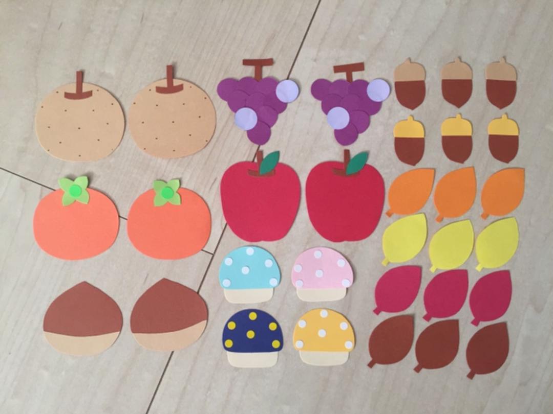 秋の果物 葉っぱ きのこ 壁面飾り400 メルカリ スマホでかんたん フリマアプリ