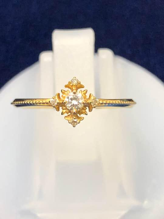 095f9723a40a9b メルカリ - アガット agete k18 ダイヤリング 0.08ct 指輪 【アガット ...