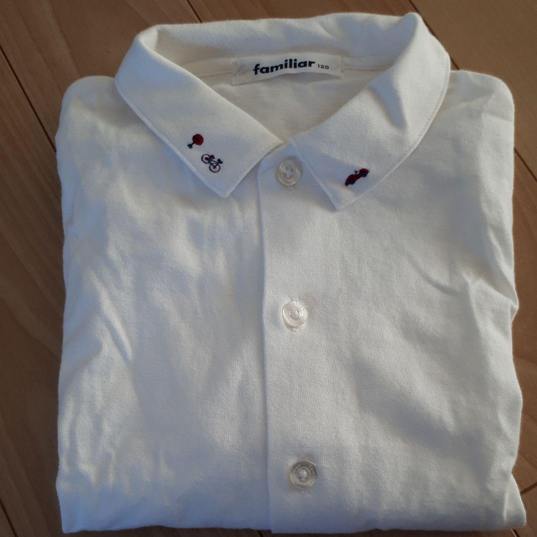 98d452ddac14a メルカリ - familiar 120㎝ フォーマル長袖ブラウス  フォーマル ドレス ...