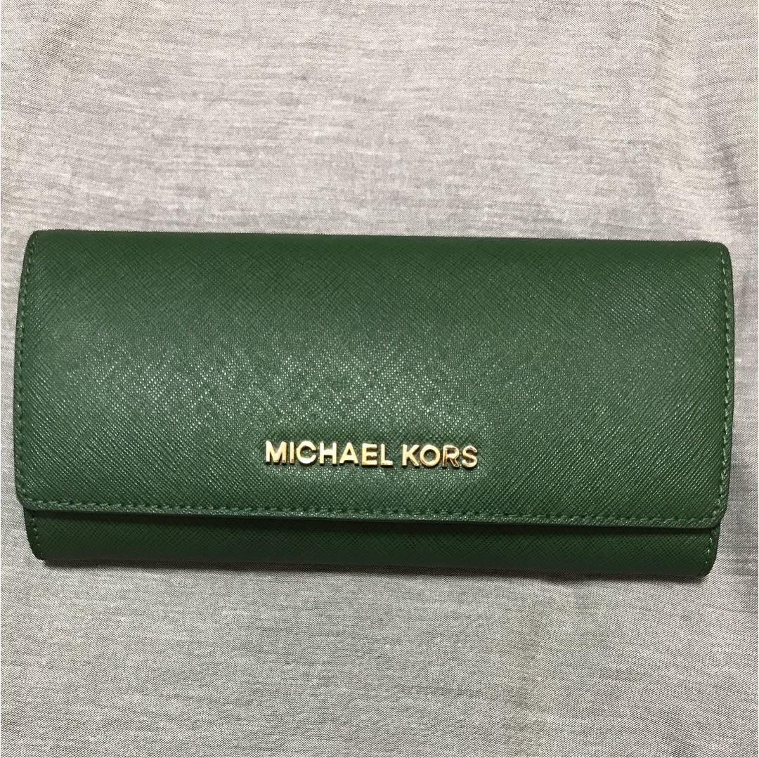 finest selection 3a23e 94e64 マイケルコース 長財布 緑(¥5,600) - メルカリ スマホでかんたん フリマアプリ