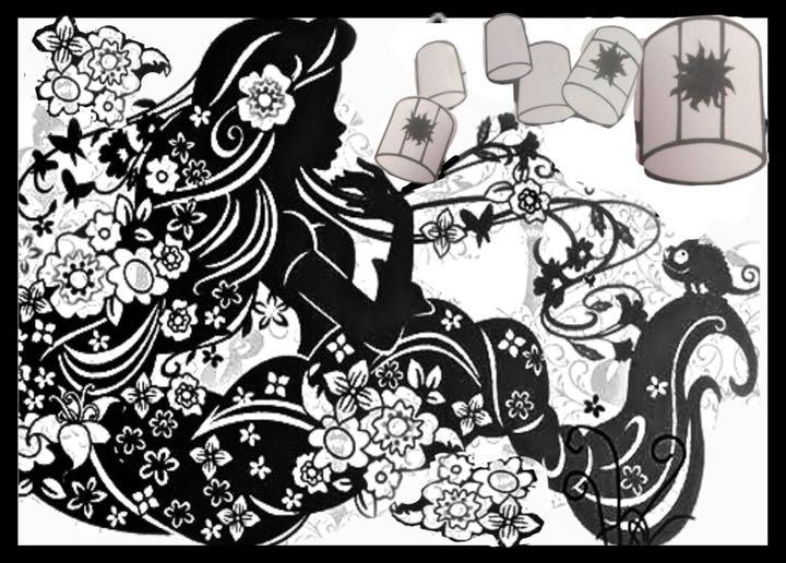 メルカリ ディズニー 切り絵 ラプンツェル 小舟 アート写真