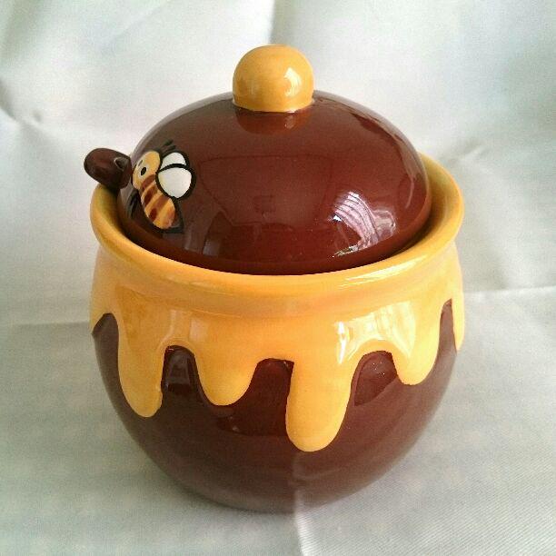 プーさん ハチミツ壺 ハニーポット 陶器