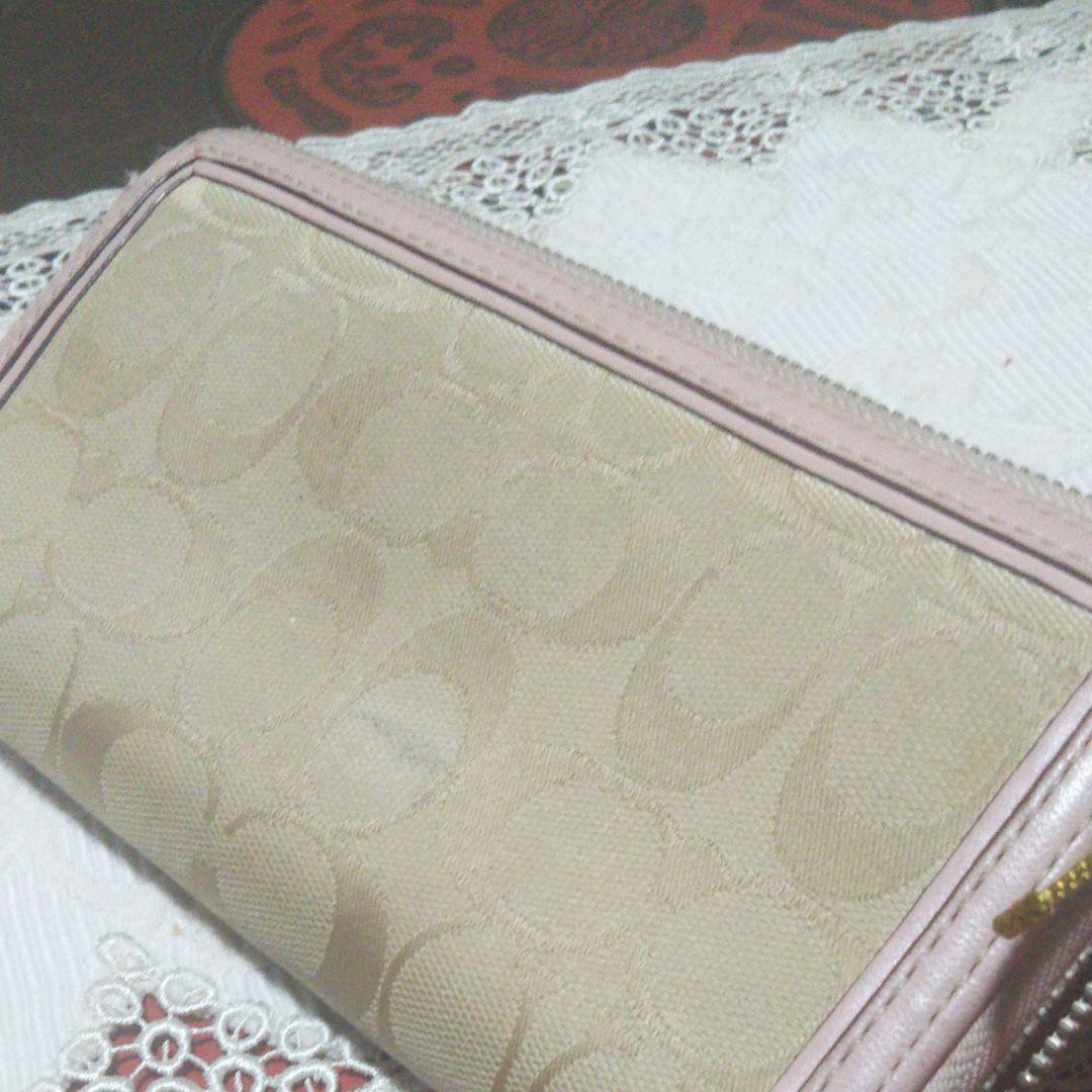 new style f11c7 0f8ed コーチ 長財布 薄ピンク色(¥ 700) - メルカリ スマホでかんたん フリマアプリ