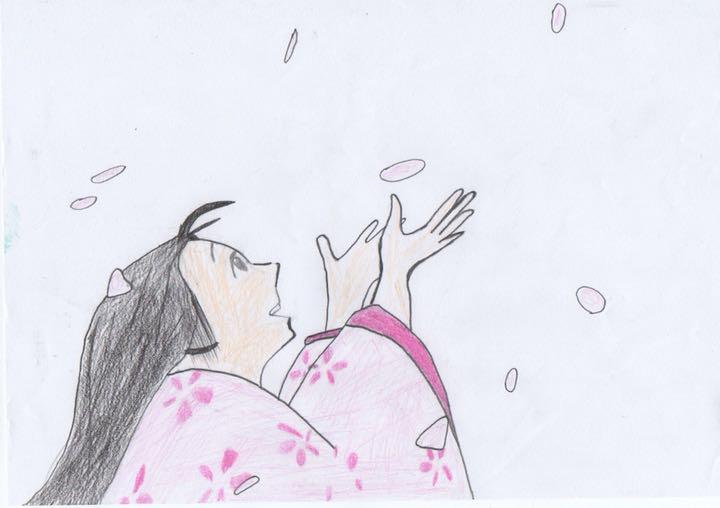 メルカリ スタジオジブリ かぐや姫の物語 模写イラスト アート写真