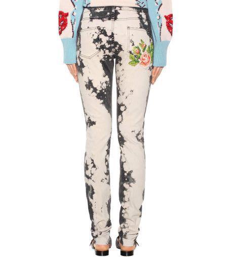 outlet store d1878 d342f GUCCI ブリーチ ジーンズ 刺繍 23(¥88,000) - メルカリ スマホでかんたん フリマアプリ
