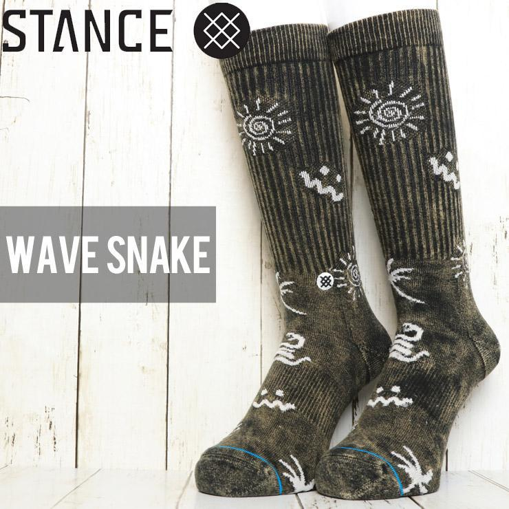 Stance Wave Snake Crew Socks in Black
