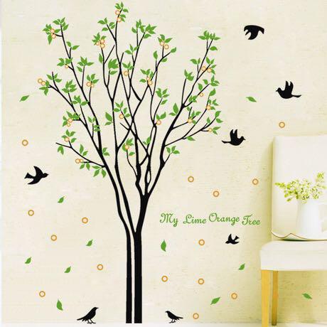 メルカリ No 6ウォールステッカー 幸福の木 鳥 自然 風景 剥がせる シール 壁紙 インテリア小物 1 380 中古や未使用のフリマ