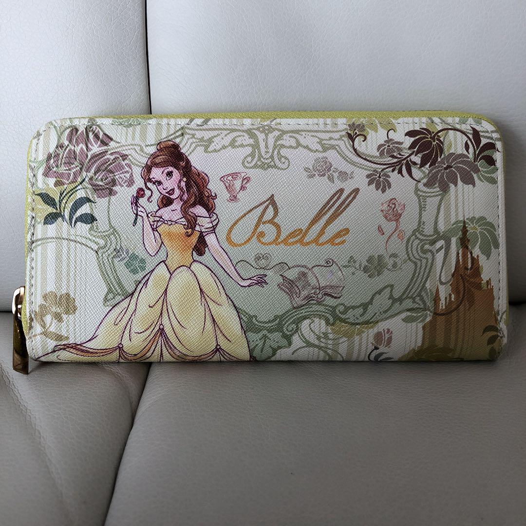 Disney Long Wallet Belle Round Zipper Beauty and the Beast Princess Present