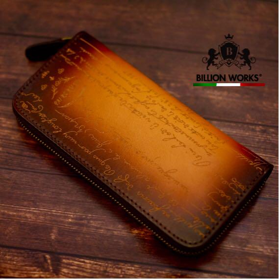 pretty nice 8b209 df46b 財布 メンズ 長財布 おしゃれ 本革 ブラウン レザー ブランド 新品(¥9,100) - メルカリ スマホでかんたん フリマアプリ