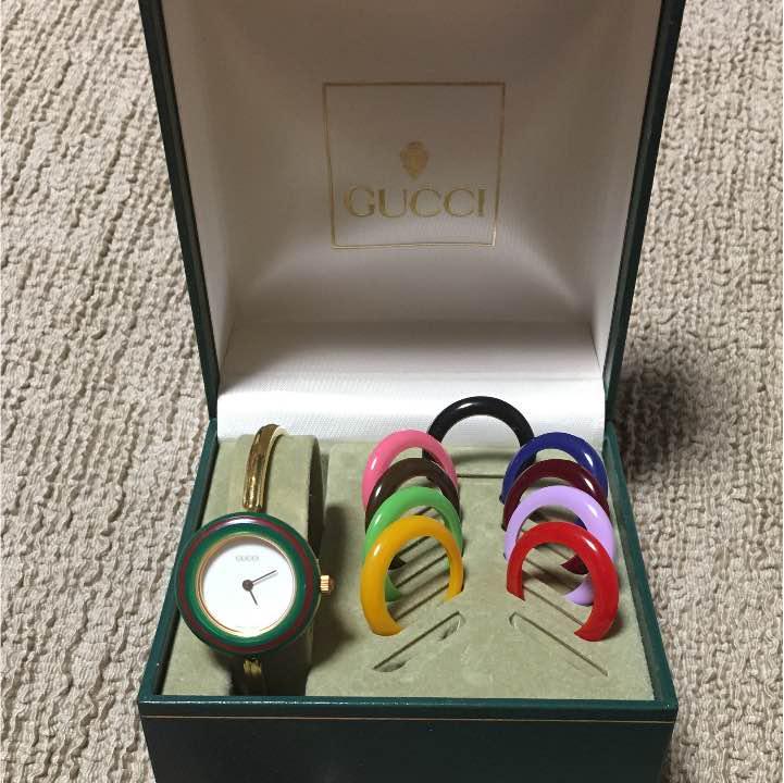 official photos 8a389 0e15f GUCCI オールドグッチ ヴィンテージ 時計 チェンジベゼル(¥13,000) - メルカリ スマホでかんたん フリマアプリ
