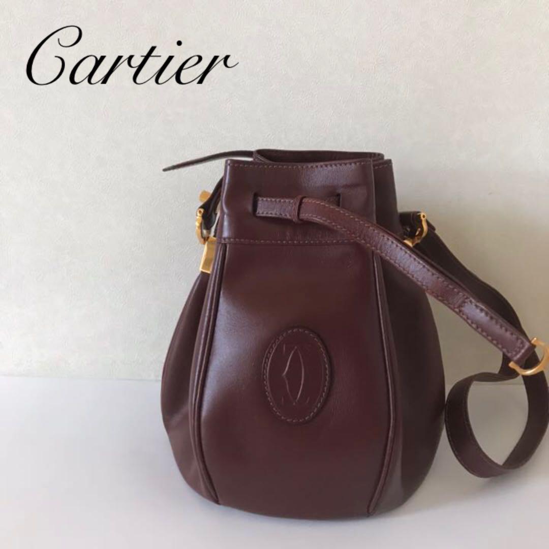 the best attitude af94a 478b7 ヴィンテージ カルティエ Cartier マスト 巾着ショルダーバッグ(¥21,999) - メルカリ スマホでかんたん フリマアプリ