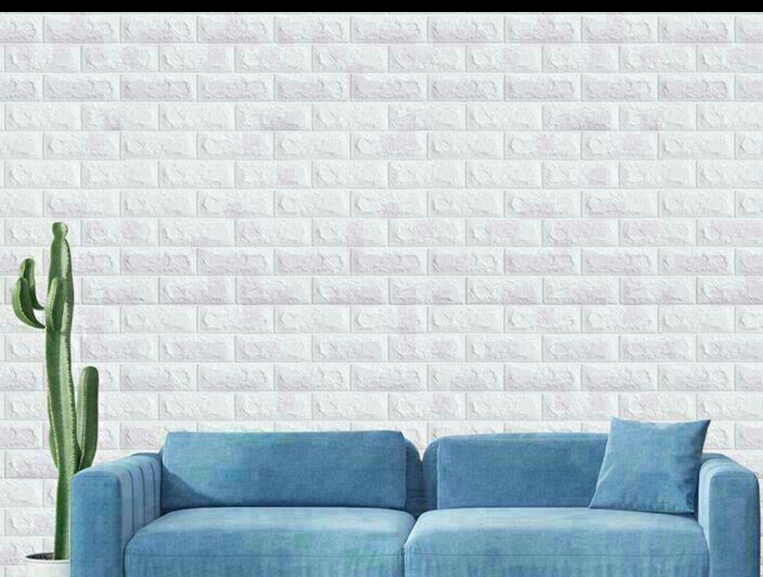 メルカリ 新品3d 壁紙レンガ調 ウォールパネル ホワイト70 77 60枚セ 置物 12 000 中古や未使用のフリマ