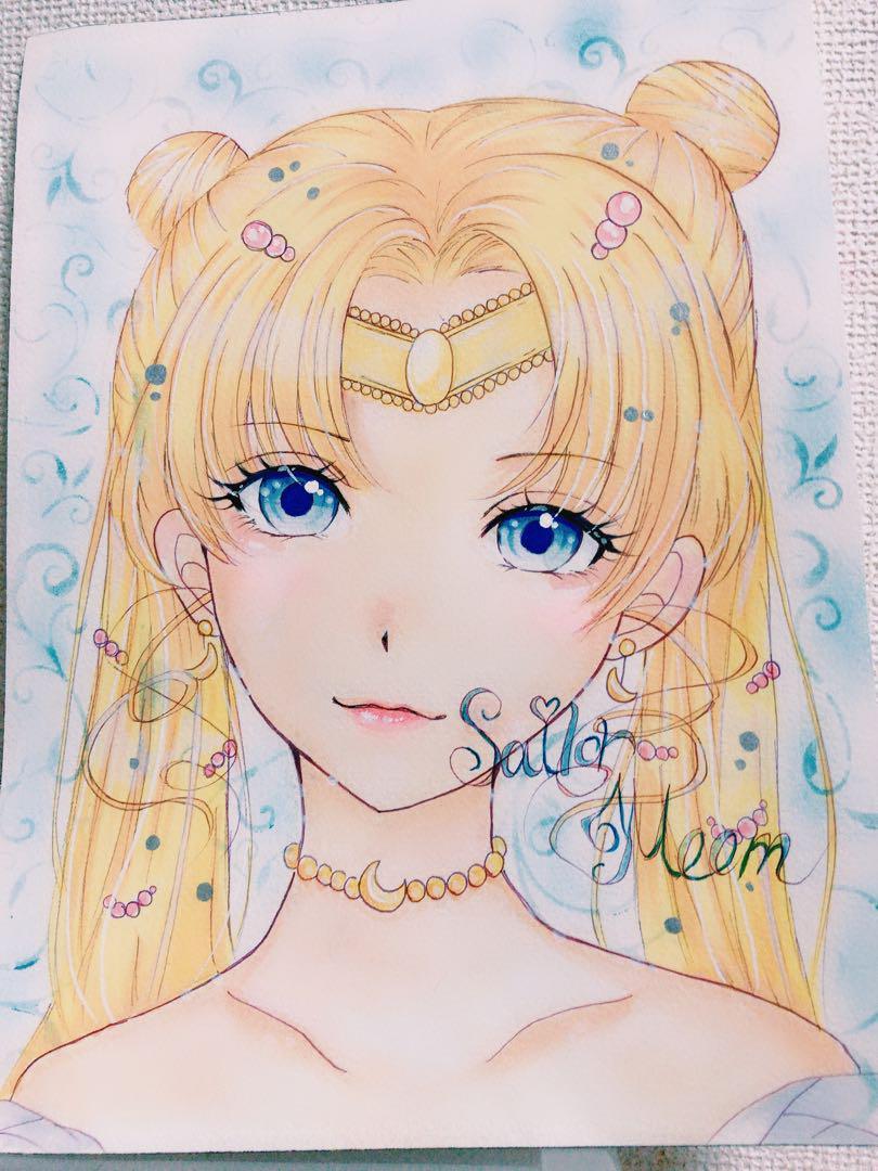メルカリ イラスト プリンセスセーラームーン アート写真 2900