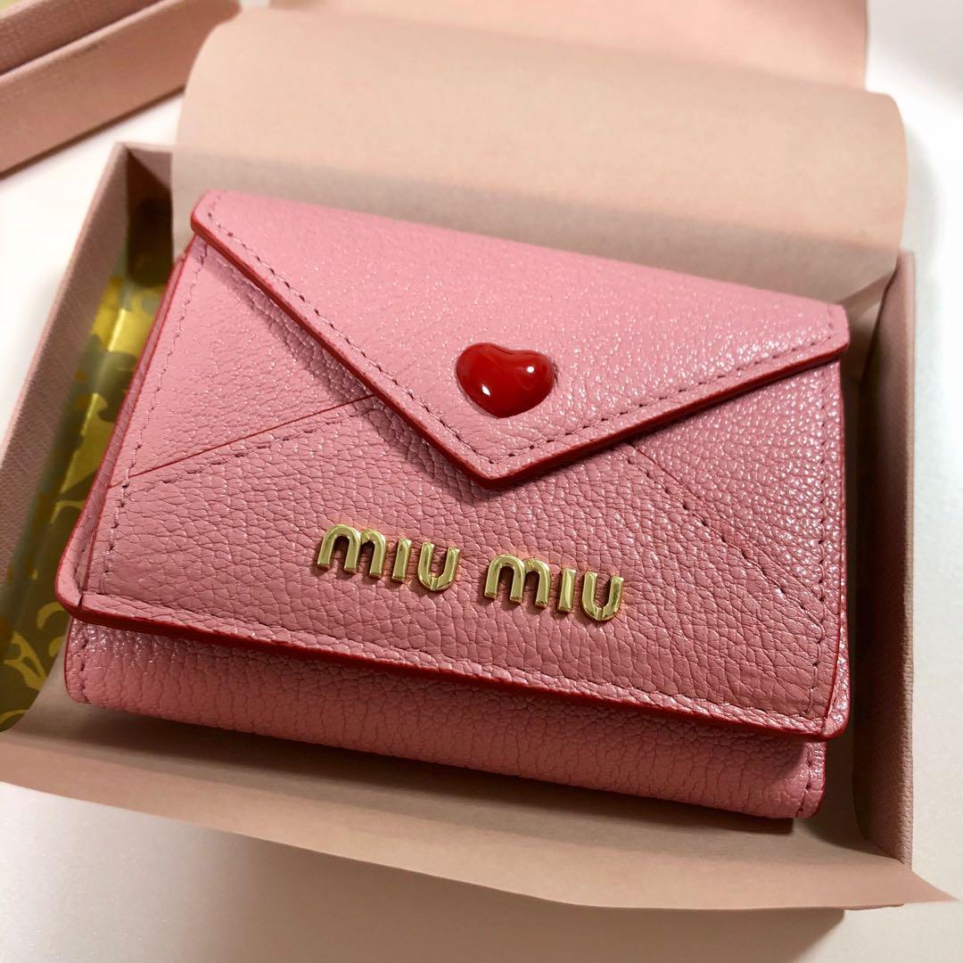 official photos b87de b0f4e お値下げ!miumiu♡ラブレターミニ財布(¥54,000) - メルカリ スマホでかんたん フリマアプリ