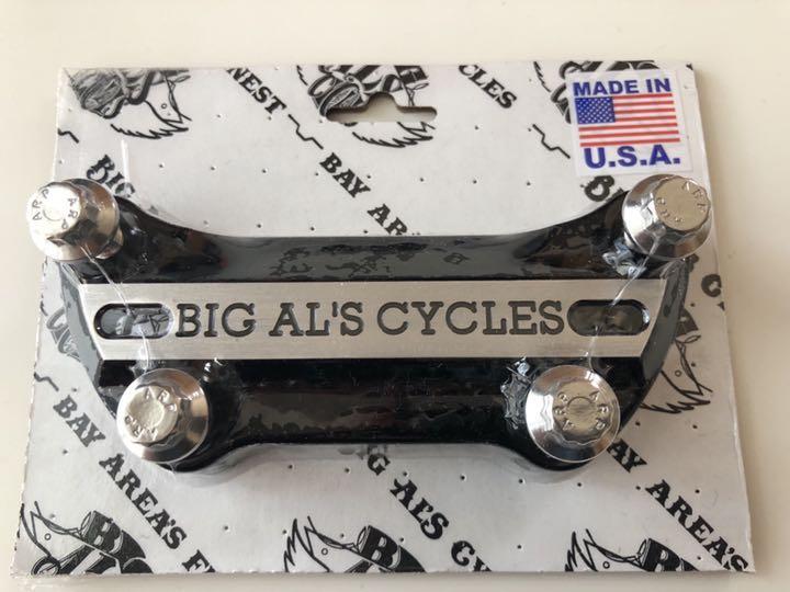 BIG AL'S CYCLES ハーレー ハンドル クランプ(¥ 9,000) - メルカリ スマホでかんたん フリマアプリ