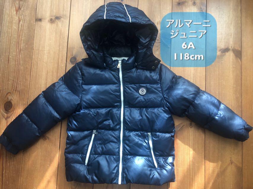 innovative design d8952 4a186 アルマーニジュニア ダウンジャケット118cm 濃紺(¥6,600) - メルカリ スマホでかんたん フリマアプリ