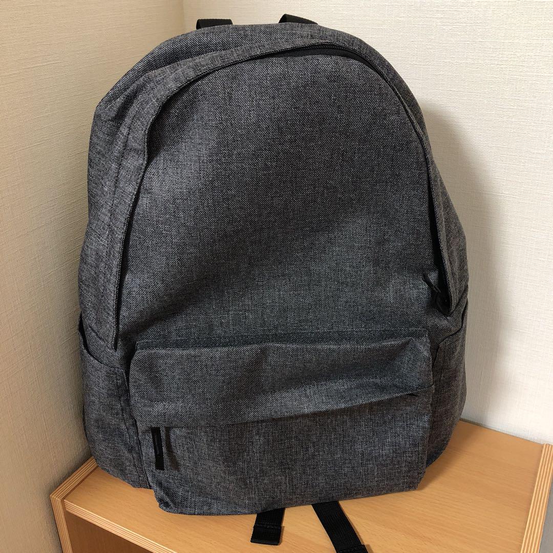 無印良品 肩の負担を軽くするPCポケット付リュックサック グレー(¥2,550) , メルカリ スマホでかんたん フリマアプリ