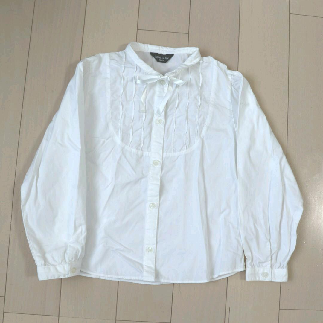 92e42fdcddee5 メルカリ - コムサブラウス白120cm女の子  フォーマル ドレス  (¥777 ...