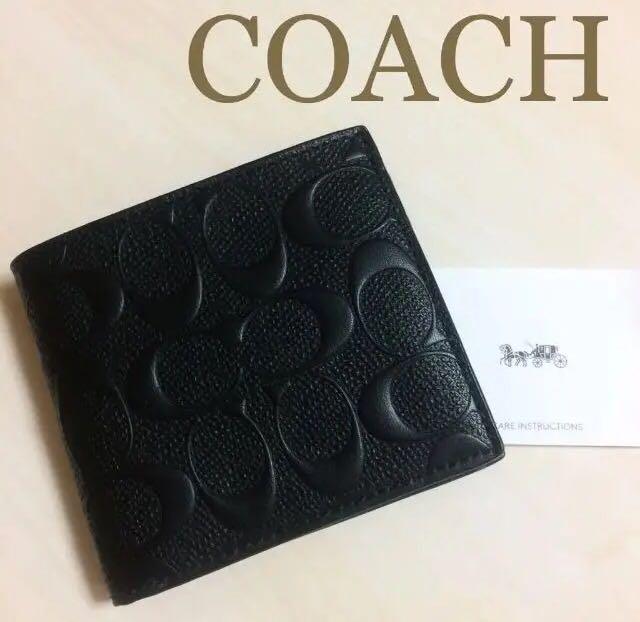 46306b5304b3 メルカリ - COACH コーチ メンズ 財布 折り財布 二つ折り財布 サイフ ...
