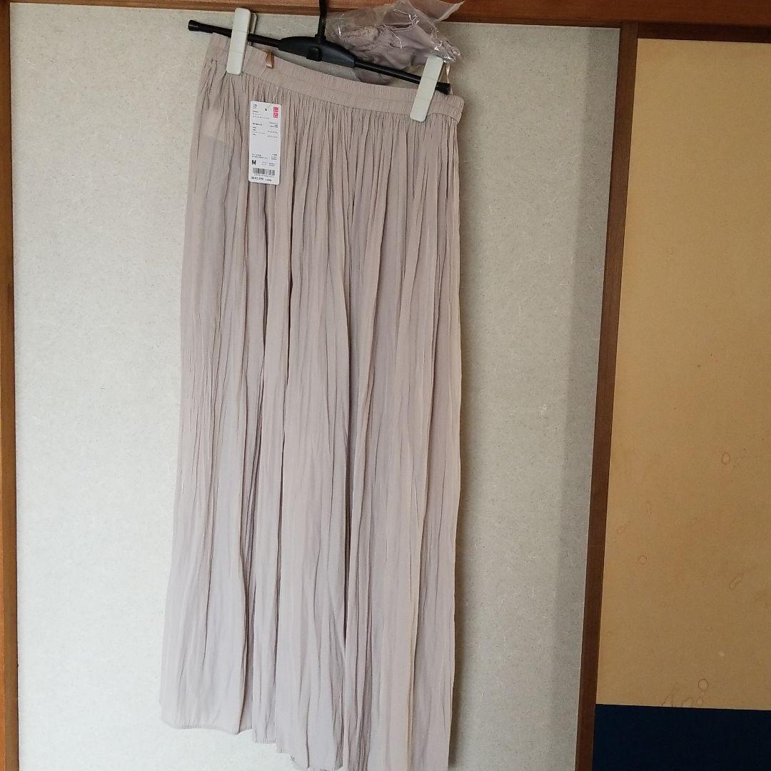 パンツ ユニクロ ワッシャー サテン スカート