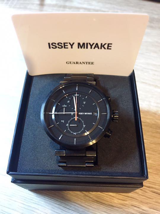 ISSEY-MIYAKE-W-Satoshi-Wada-Wristwatch-SILAY-001-Black-Men-039-s-Good-Condition-D4
