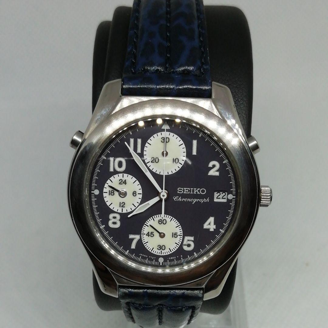 more photos 75f3b c4ef6 SEIKO 腕時計セイコー クロノグラフ(¥4,500) - メルカリ スマホでかんたん フリマアプリ